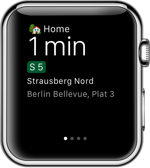 Apple Watch glance